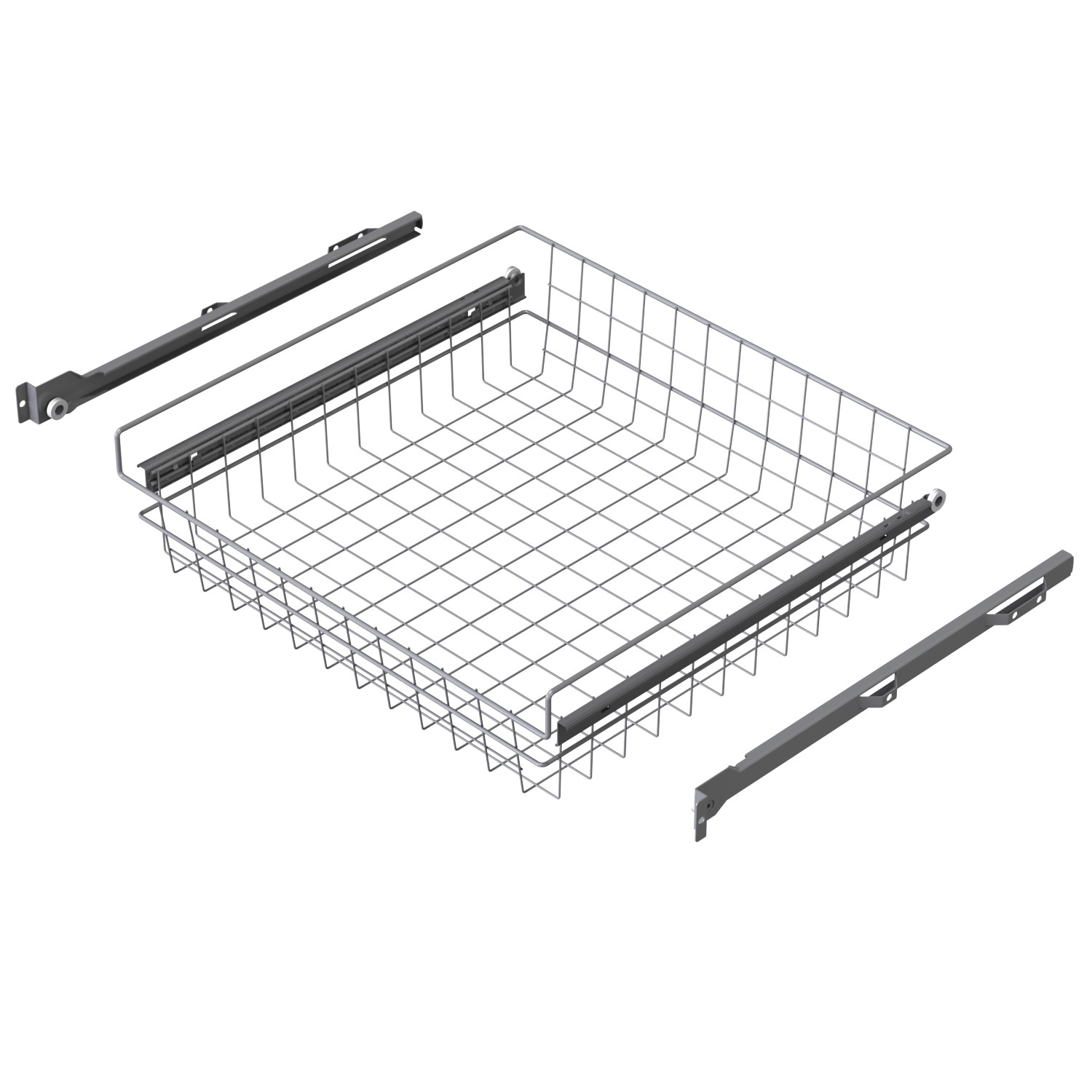 Wire basket with slide rails material steel wire LM 614