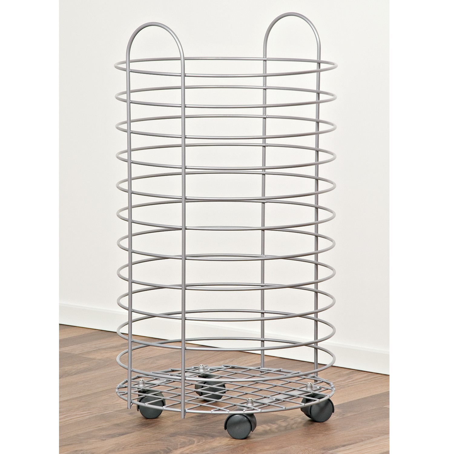 Storage basket with wheels / high / material steel wire - Innovative ...