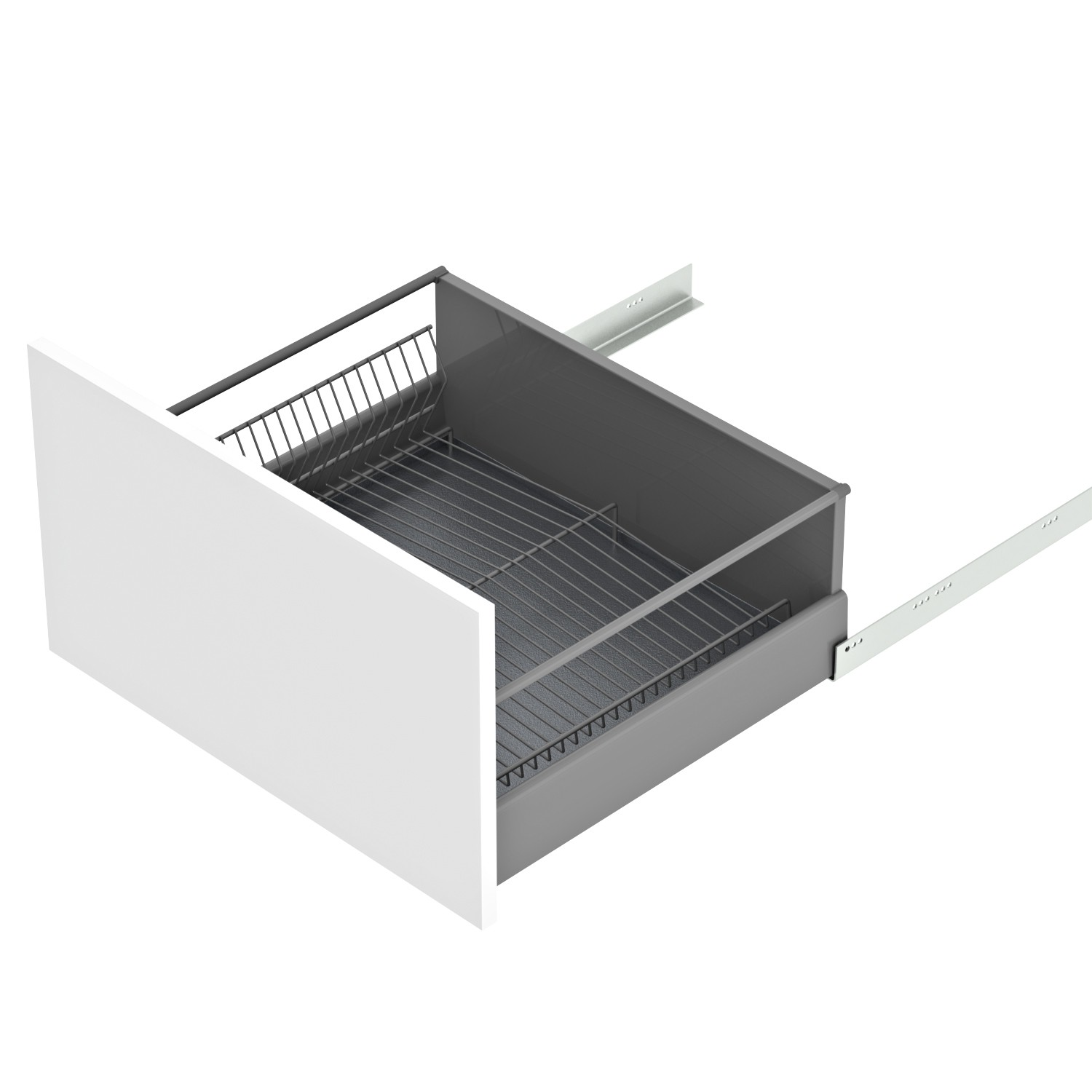 Dish Drying Solution For A Drawer Material Steel Wire