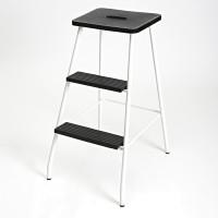 STEP STOOL WHITE/BLACK LM 182