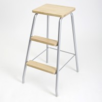 STEP STOOL SILVER/BIRCH LM 184