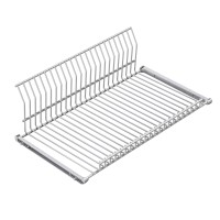 FLAT/PLATE SHELF +HOLDERS WHITE PE LM 93