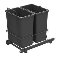 PULL-OUT WASTE SYSTEM ANTHRACITE + 2 BINS LM 62/R