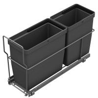 PULL-OUT WASTE SYSTEM ANTHRACITE + 2 BINS LM 72/R