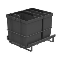 PULL-OUT WASTE SYSTEM ANTHRACITE + 2 BINS LM 64/R