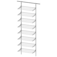 WALL RAIL SYSTEM WHITE W600 8 SHELVES LM 840