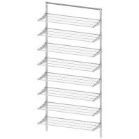 WALL RAIL SYSTEM WHITE W900 8 SHELVES LM 840