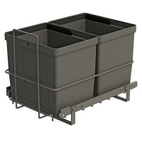 PULL-OUT WASTE SYSTEM ANTHRACITE + 2 BINS LM 79/R