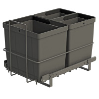 PULL-OUT WASTE SYSTEM ANTHRACITE + 3 BINS LM 79/R