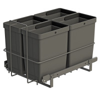 PULL-OUT WASTE SYSTEM ANTHRACITE + 4 BINS LM 79/R