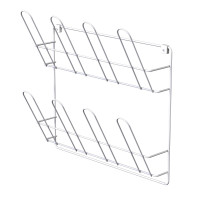 WALL-MOUNTED SHOE RACK WHITE LM 322/2
