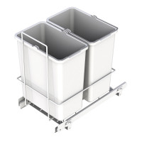 PULL-OUT WASTE SYSTEM WHITE + 2 BINS LM 62/R