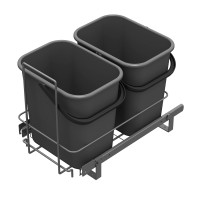 PULL-OUT WASTE SYSTEM ANTHRACITE + 2 BINS LM 66/R
