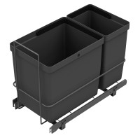 PULL-OUT WASTE SYSTEM ANTHRACITE + 2 BINS LM 67/R
