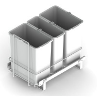 PULL-OUT WASTE SYSTEM WHITE + 3 BINS LM 65/R