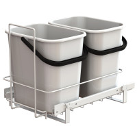 PULL-OUT WASTE SYSTEM WHITE + 2 BINS LM 66/R