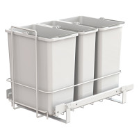 PULL-OUT WASTE SYSTEM WHITE + 3 BINS LM 66/R