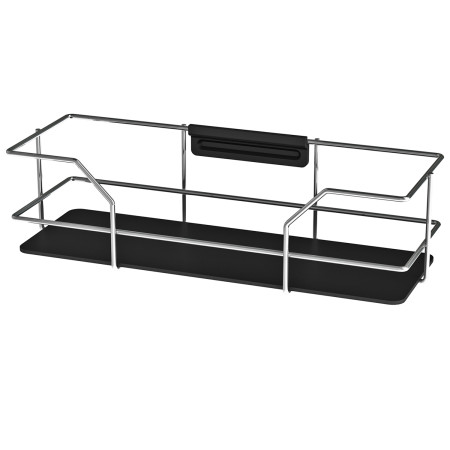 BATHROOM SHELF CHROME/BLACK LM 591