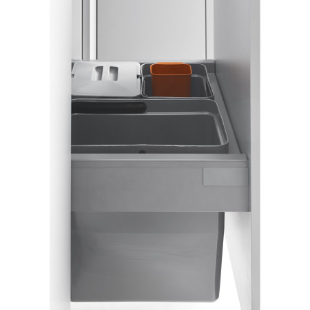 LUX-SORTING FRAME ANTHRACITE + 1 BIN + SOFT CLOSE (cabinet 366-369) LM 704/R