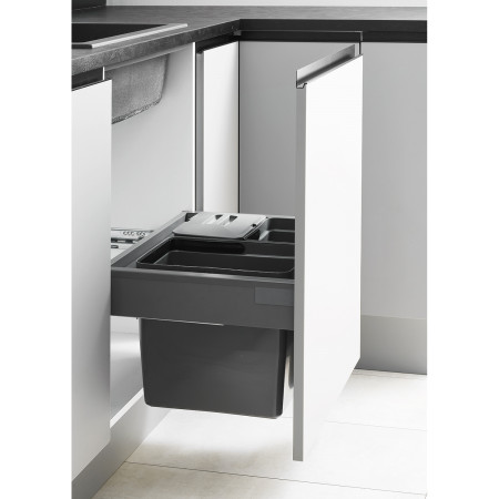 LUX-SORTING FRAME ANTHRACITE + 2 BINS + SOFT CLOSE (cabinet 366-369) LM 704/R