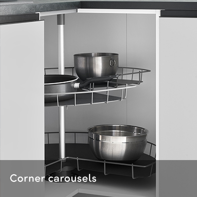 Corner cabinet systems