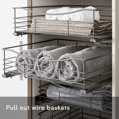 Pull out wire baskets