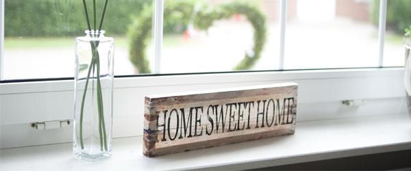 Sweet home 600 x 250