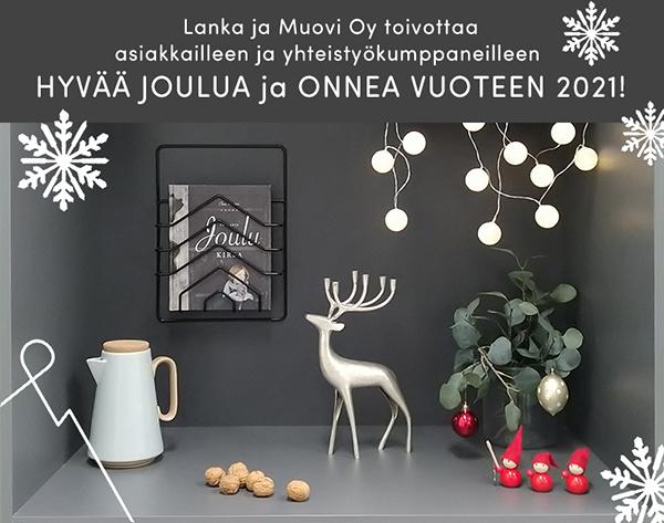 Hyvää joulua toivoo Lanka ja Muovi Oy